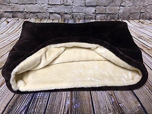 Lola's Pet Schlafsack für Katzen und Hunde, Schokobraun / cremefarben