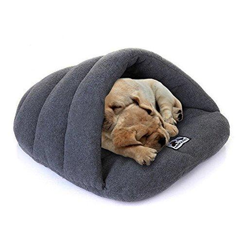 Geniales Weich Warm Schlafsack, Matte PET Nest Höhle Bett Haus für kleine Hunde Katze Kaninchen Pet bett grau M