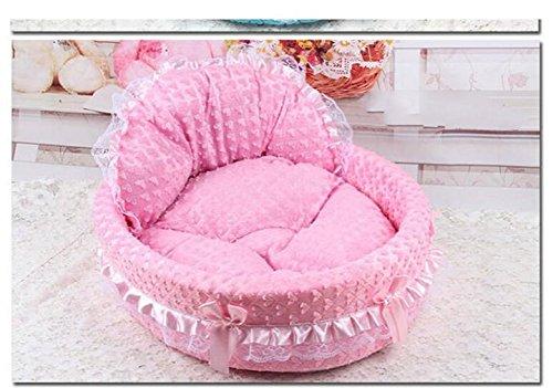 Die Leben Haus Hundehütte Hunde abnehmbar und waschbar Kissen Bett Korb aus Baumwolle sehr geschmeidig Schlafsack, für Hunde, Katzen usw. geeignet für 4Jahreszeiten 2Größen verfügbar