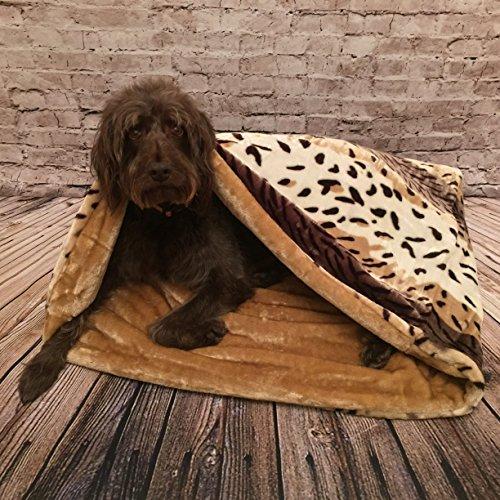 Lola's Pet Schlafsack für Katzen und Hunde, karamell / nerzfarben