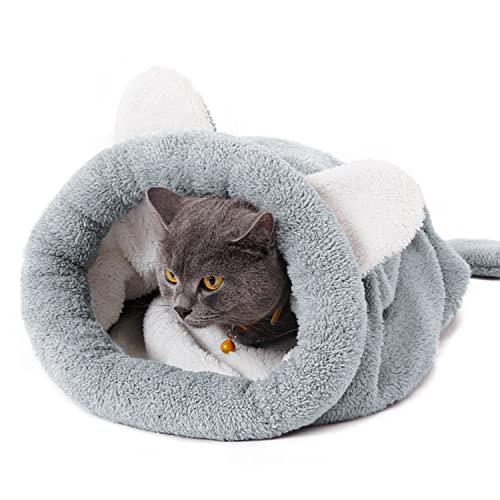PAWZ Road waschbarer Schlafsack Katzek?rbchen Zelt Hundebett f¨¹r Katze und kleinen Hund Grau