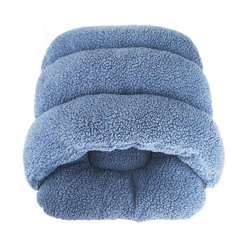 Mode und gemütliches Bett Haustiere Haustiere Die Atmungsaktive, warmen Nest Haustier Hund Katze, Hauskatzen und Hunde kleine Bett Schlafsäcke , Blaues Haus Katzen, 45*40*25cm s: