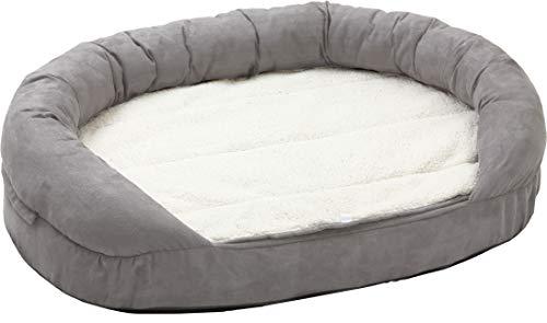 Karlie Flamingo Hundebett Ortho Bed Oval, grau, 118 x 72 x 24 cm