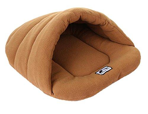 Gullor Winter warm komfortabel Haustier Hund Katze Kaninchen Kissen halb verdeckt Bett Schlafsack - Schwarz (L)