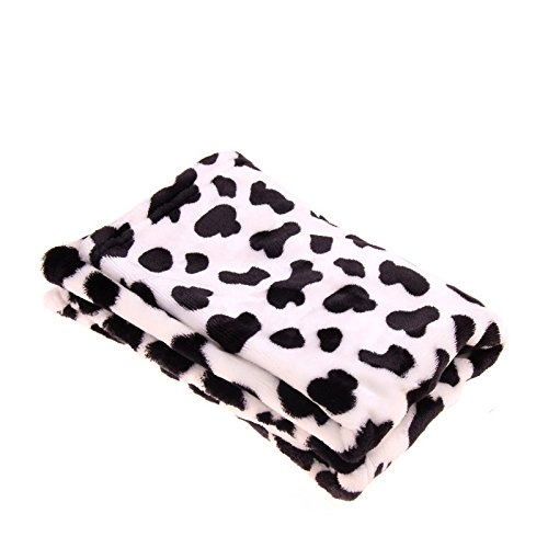 Hundedecke Waschbar, PETBABA Warme Weiche Thermodecke für Hunde Schwarz-Weiß L