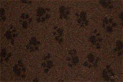 Hundedecke, Thermodecke Braun, Schwarze Pfötchen, waschbar, antirutsch, 100x75cm, 30mm