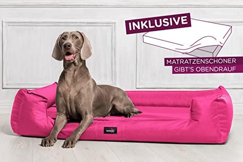 tierlando® G5-08 Orthopädisches Hundebett GOOFY VISCO fest gewebtes Polyester Hundesofa Hundekorb Gr. XL 120cm Pink Ortho