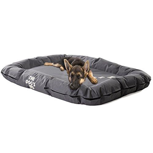 DAS HUNDEBETT, Premium S/M/L/XL, wasserdichte Hunde- und Welpenbetten in vielen Farben, strapazierfähiges Oxford-Gewebe von höchster Qualität & für den Komfort von Hunden entworfen, maschinenwaschbarer Bezug, bequemes Bett & Hundepensions-Favorit