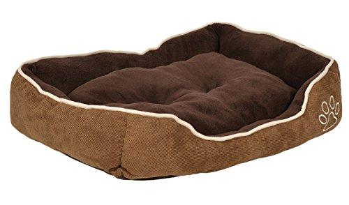 ts-ideen extra weiches Hundebett Tierbett Luxus Kissen Hundekorb Hundesofa Hunde-Kissen waschbar Schlafplatz Kšrbchen 65 x 50 cm