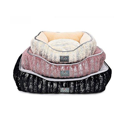 Elite Luxus Gold blockierender Extra weiches Wolle Hundebett, verschiedenen Größen, geeignet für alle Arten von Hunde, Winter Bestseller, beige/lila/schwarz