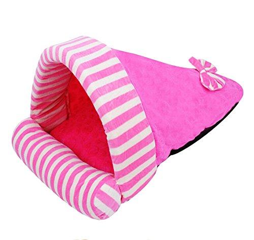 DAYAN Warme weiche Katze Haus Haustier Schlafsack Lovely Hund Zwinger Katze Bett Katze Schlafsack Farbe dunkel rosa