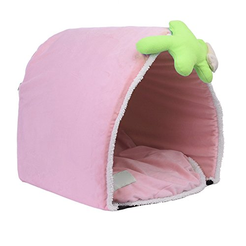 Haustier Haus Bett Sofa Matte Pink Blau Weich Warm für Hunde/Katze LianLe