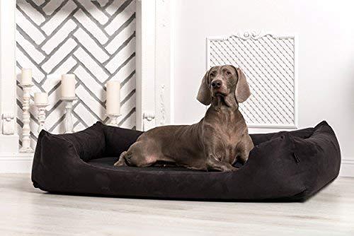 M5-C-03 Hundebett MORITZ von TIERLANDO aus robustem CODURA Hundesofa Hundekorb Gr. XL 120cm SCHWARZ