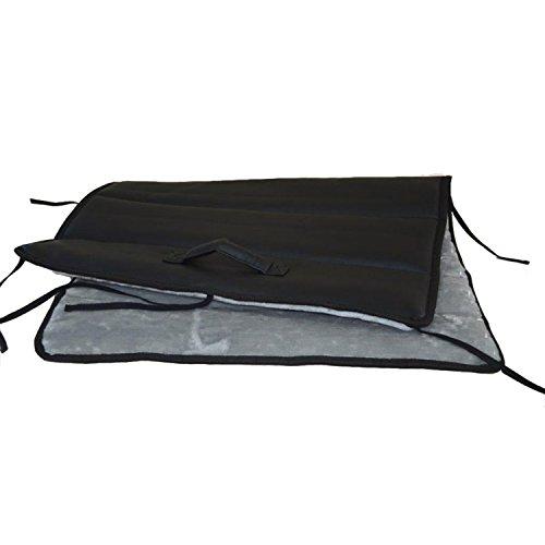 Hunde-Reisebett My Travel Plüsch schwarz-grau 60x90cm von dogOne