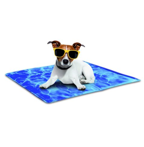 Chill Out - Always Cool Kühlmatte für Hunde M-L blau Hundekühlmatte High-Tech Kühlmatte