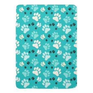 Haustierdecke für Hunde / Katzen oder Haustiere weichem Fleece Jumbo pet Decken mit paw Design - bietet Komfort und Wärme für Ihre Haustiere (Blau)