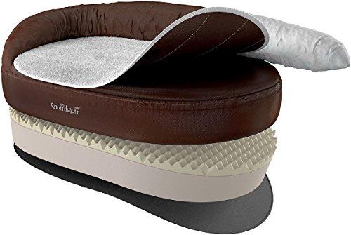 Knuffelwuff 12697 Orthopädisches Hundebett Ortho Bed Jessy - Größe XL, 100 x 65 x 28cm, braun