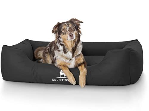 Knuffelwuff 13126 Wasserfestes Pflegeleichtes Hundebett Finlay, Größe XL, 105 x 75 cm, schwarz