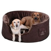 Knuffelwuff Hundebett Henry aus 5cm Schaumstoff XXXL - Braun