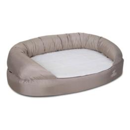 Knuffelwuff Orthopädisches Hundebett Jessy S-M 73x50cm - Beige